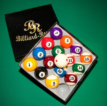 Billardkugeln Billiard-Royal (6x roter Punkt) – Bild 2