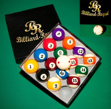 Billardkugeln Billiard-Royal (6x roter Punkt) – Bild 1